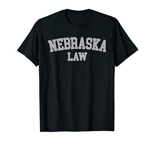 Nebraska Lawyer, Attorney Bar Graduate School Law Gift T-Shirt