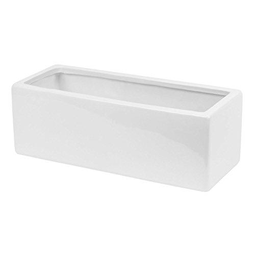 Ritz Coprivaso in ceramica in bianca colore, 13cm di altezza