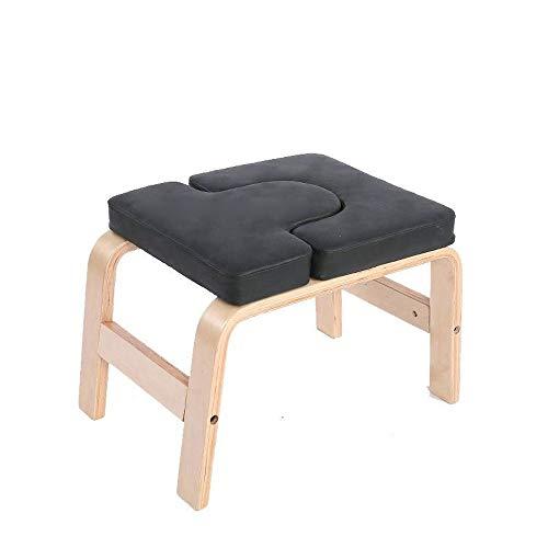 L.J.JZDY Yoga Stuhl Yoga Kopfstand Bench, Birke massiv Holzständer Yoga Inversion Lehrstuhl for Familie oder Fitnessraum, Entlasten Müdigkeit und Form der Körper Inversion Ausrüstung