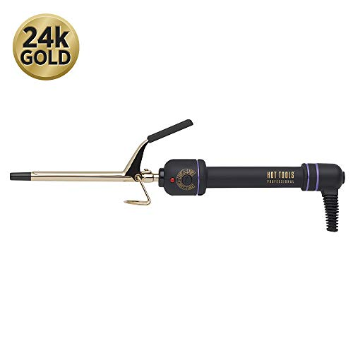Hot Tools Professional 24K Gold Curling Iron/Wand for Long Lasting Curls, 0.375 Inch