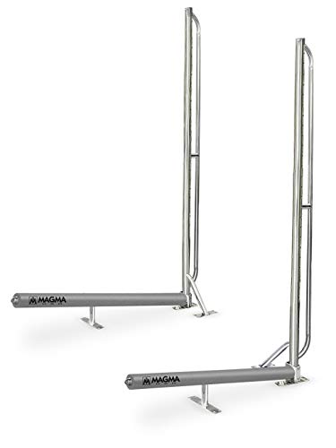 Magma Products, R10-1001 Storage Rack System Base Frame Kayak / SUP Dock Mounted, Polished Stainless Steel