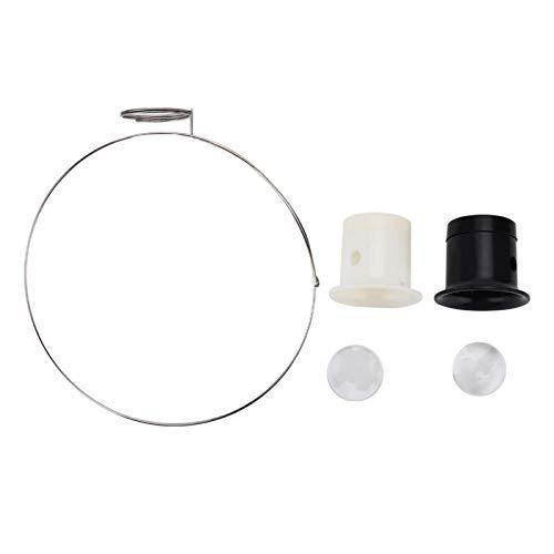 Langlebige Lupe für Augenlinsen, leichte Lupe, mit Reparaturwerkzeug für Kopfbanduhren für die Reparatur von Uhrmacheruhren