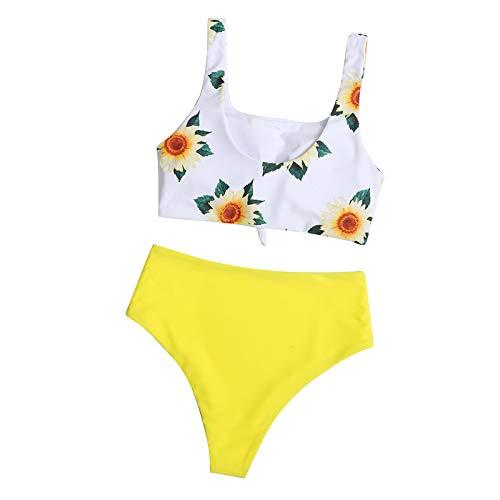 HonpraD Bathing Suits Women, Two Pieces Halter Back Triangle Bikini Swimsuits High Waisted Swimwear