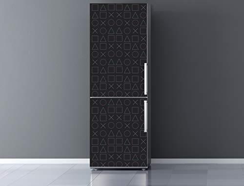 Oedim Vinilo para Frigorífico Gamer Fondo Gris 185x60cm | Adhesivo Resistente y Económico | Pegatina Adhesiva Decorativa de Diseño Elegante