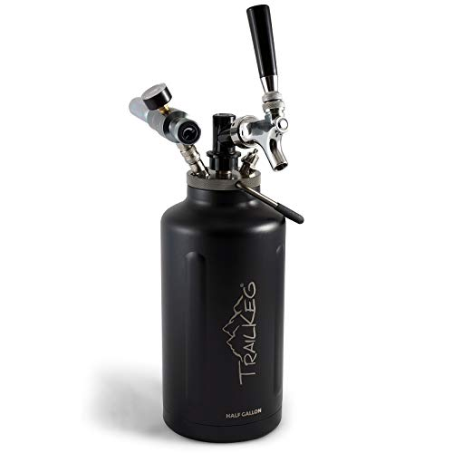 TrailKeg Half Gallon Stainless Steel Growler - Vacuum Insulated Double Wall Design