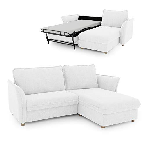 place to be. Insideout 85 P9206 - Sofá cama (85 x 200 cm, madera de roble macizo), color blanco