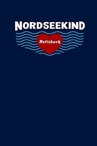 Nordseekind Notizbuch: Kariert, 120 Seiten, 6X9inch (Ca. Din A5)
