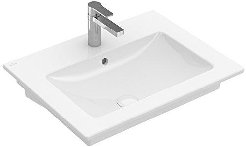 Villeroy&Boch Waschtisch Venticello 4124 600x500mm o HL m ÜL Eckig Stone White C+