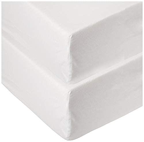 Paquete de 2 sábanas ajustables de algodón orgánico para cuna para niños y niñas