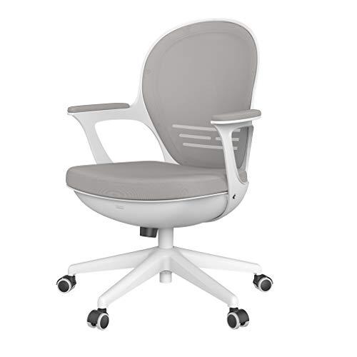 Hbada オフィスチェア デスクチェア 椅子 コンパクト メッシュチェア 組み立てる簡単 約120度ロッキング 肉厚クッション 静音PUキャスター 通気性 360度回転