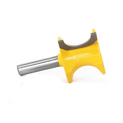 Gfpql WYanHua-Caña 1pc 8 mm Vástago Bullnose Router bit Set, C3 Punta de carburo carpintería Cutter, Accesorios para Herramientas de Bricolaje (Cutting Edge Length : 8X6.35)