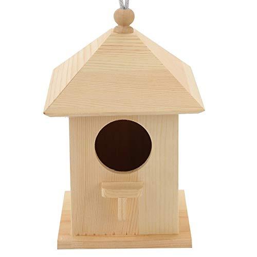 CHUJIAN Nuevo jardín de Madera al Aire Libre Salvaje del pájaro del alimentador alimentadores del pájaro envase de alimento Alimentador Colgante del pájaro Gazebo for decoración de jardín