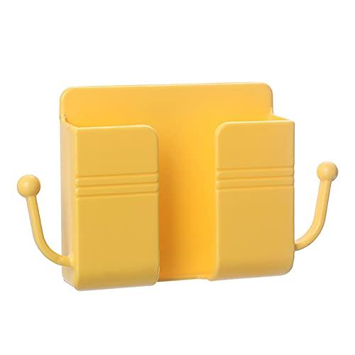 DHYED Soporte remoto de pared para soporte de pared, estante de almacenamiento de la caja de almacenamiento, autoadhesivo, de plástico, control remoto teléfono móvil enchufe de carga soporte de pared