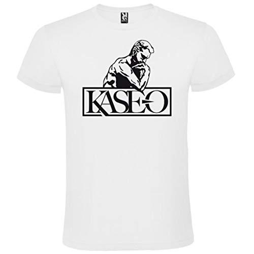 ROLY Camiseta Blanca con Logotipo de Kase.O Hombre 100% Algodón Tallas S M L XL XXL Mangas Cortas (M)