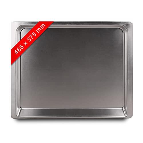 Backblech 465x375x25mm Ersatz für Constructa 00438155 Bratblech Aluminium Fettpfanne Kuchenblech für Backofen Ofen Herd