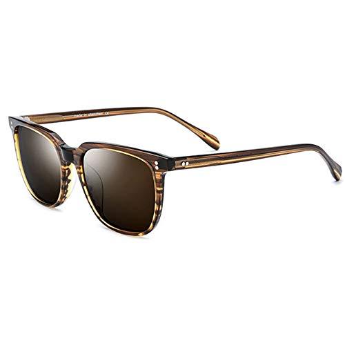 XiaoDong1 Gafas de sol polarizadas UV400 con placa negra marrón polarizadas para hombre (color: marrón)