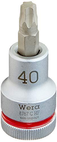 Wera 05003834001 8767 C HF TORX Zyklop Bit-Nuss 1/2 Zoll Antrieb mit Haltefunktion, TX 40 x 60 mm