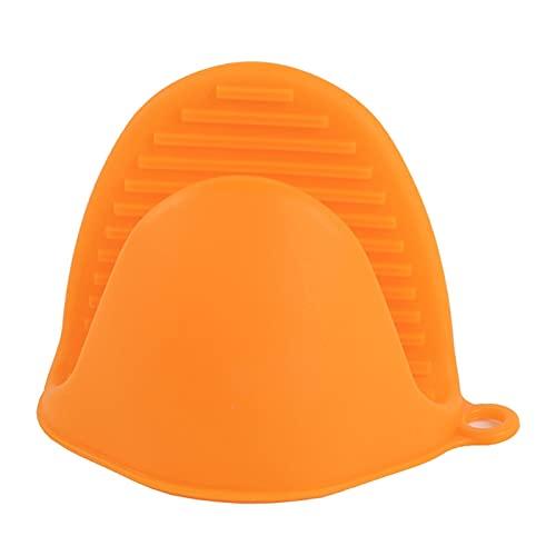 Guante De Silicona Horno Aislamiento Guantes Microondas Resistente Al Calor Guantes Bowl Clip Horno Anti-alambre Microondas Jet Mojado (Color : Orange)