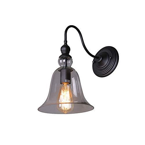 Kaper Go Country E27 Lámpara De Pared De Vidrio De Hierro Forjado Tamaño 220 Mm * 290 Mm Área De Irradiación 5-8 Metros Cuadrados Lámpara De Iluminación Luz Nocturna