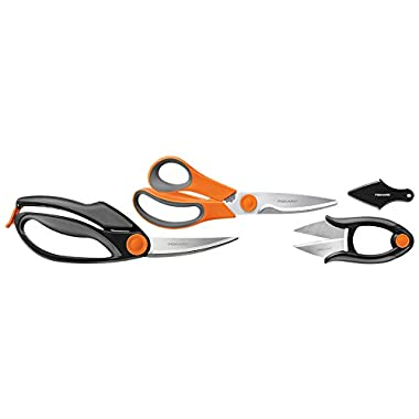 Fiskars 3 Piece Heavy-Duty, All-Purpose Fast-Prep Kitchen Shears Set