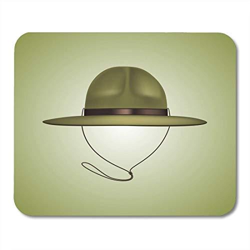 Mauspad khaki ranger scout hat schöne grüne militärkappe cartoon mousepad für notebooks, Desktop-computer mausmatten