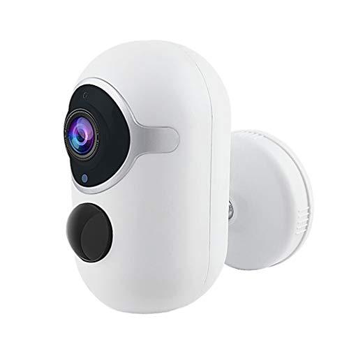 Toygogo Batería WiFi 1080P Cámara Exterior Inalámbrica para El Hogar, Cámaras de Vigilancia IP Detección de Movimiento de Audio Bidireccional, Bajo Consumo de