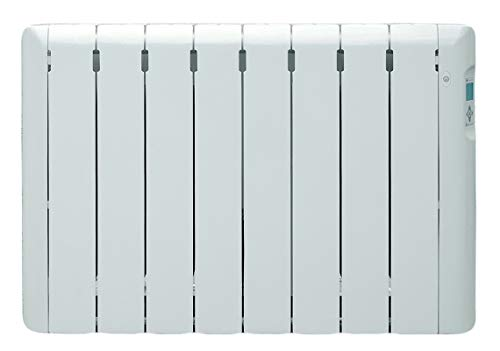 Haverland RC8ECO - Radiateur électrique à inertie fluide caloporteur, détecteur de présence, thermostat digital programmable, usage idéal +6h/jour, pièces de +/- 11-15 m², 1000W, Blanc