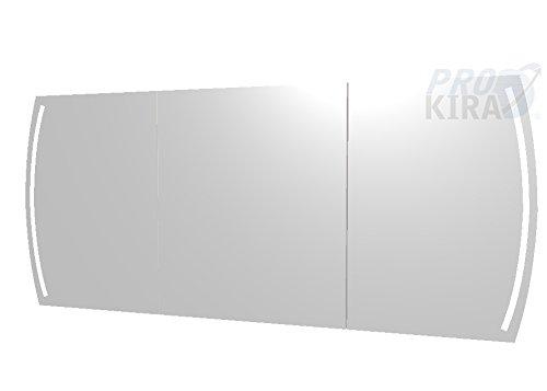 PELIPAL Contea Spiegelschrank inkl. LED Beleuchtung/CT-S3E23-1670-17 / Comfort N/B: 158 cm