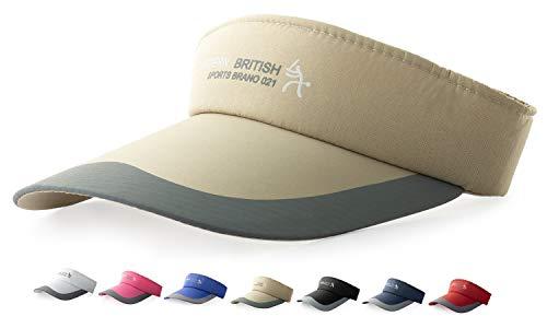 HYSENM Visor Baumwolle Einheitsgröße Unisex Cap mit Klettverschluss Einstellbar Anti-UV für Reisen Radsport Tinnesspielen Kappe, Khaki