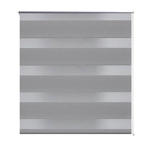 vidaXL Doppelrollo Seitenzug Rollo Rollo Kettenzug Fenster&Türen 50x100cm grau
