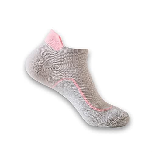 ACEACE Mujeres al Aire Libre Correr Calcetines Transpirable atlético Senderismo Yoga Calcetines Fitness bádminton Tenis Deporte Calcetines sin Patinar (Color : WZ121-Grey, Size : EU 35-40)