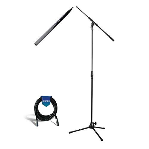 Sennheiser MKH-416 Short Shotgun Interference Tube Microphone - K&M 210/9 Microphone Stand with Telescoping Boom - H&A Elite Pro 25