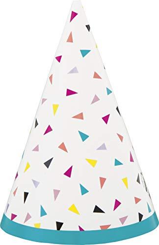 Unique 73151 Trendige Mini-Partyhüte   Dreieckiges Konfetti-Thema, Nylon/a