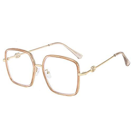 Neue netto rote große Box quadratische anti-blaue Brille für Büro-Teerahmen