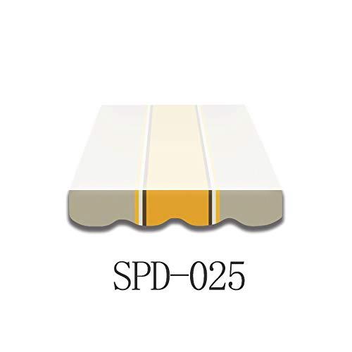 Home & Trends Markisen Volant Markisenbespannung Ersatzstoffe Polyester Maße 3 x 0.23 m 24 Markisenstoffen fertig genäht mit Bordeux (SPD025)