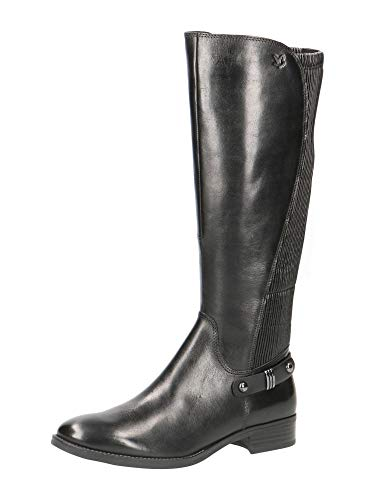 CAPRICE Damen Belen Hohe Stiefel, Schwarz (Black Comb 19), 37.5 EU