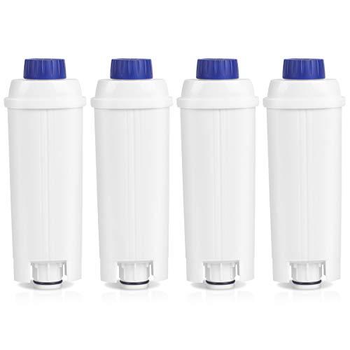 HEIMUNI 4er Pack Wasserfilter für Delonghi Kaffeevollautomaten DLSC002 Filter, Filterpatronen für Kaffemaschinen De'Longhi BCO, ECAM, Esam, ETAM (4)
