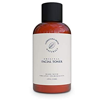 Facial Toner - Face Toner Made With Organic Aloe Witch Hazel & Other Skin Restoring Ingredients - Hydrates Refines & Restores pH – Reduces Redness & Excess Oils - Tightens Pores - No Harmful Chemicals or GMOs Christina Moss Naturals 4oz Unscented
