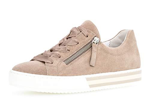 Gabor Damen Skater Sneaker 26.508.28, Frauen Sportschuh,Low-Top,Schnürer,Halbschuh,Plateau-Sohle,Rouge,40.5 EU / 7 UK