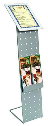 Splay Sales indrukwekkend. Werven infostandaard aluminium design DIN A4 in geperforeerde plaat ontwerp met brochurebox