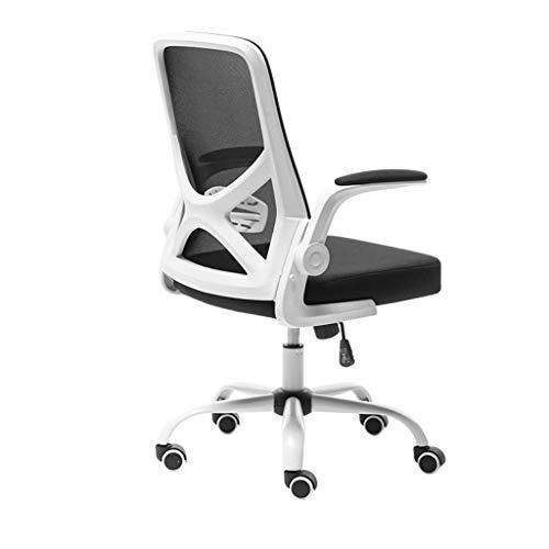 Bürospielstuhl Ergonomisch mit Armen, Schreibtischstuhl Computer Drehstuhl Stoff Höhenverstellbar für Home-Office-Möbel, Schwarz, 11 (Farbe: Schwarz)