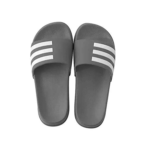 N/A Slippers Women Size 6,Mens Slippers Size 10 UK,Mens Slipper Boots,Sheepskin Slippers Men's,Kids Pool Shoes,Fashion Striped Slippers, Non-Slip Flip Flops for Couples-Gray_44-45