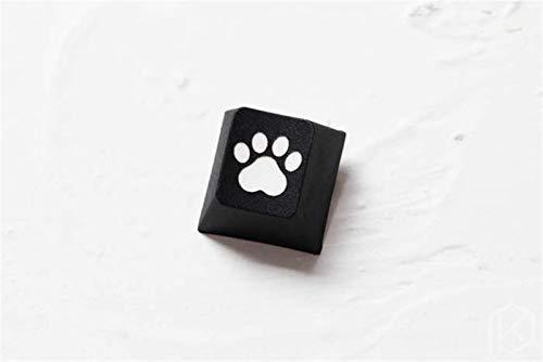 juqingshanghang1 1 stück keycap neuheit tauchfarbstoff skulptur pbt keycap für mechanische Tastatur geätzt Legend Katze pad r1 1x schwarz rot blau (Color : C pad ESC Black x1)