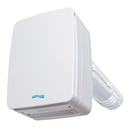 La ventilación v-eco100pl Recuperador de Calor A Doble flujo, longitud 46cm