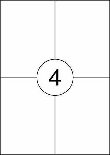 Rillstab RI89122 - Pack de 4 etiquetas autoadhesivas, 105 x 148 mm, A4, color blanco
