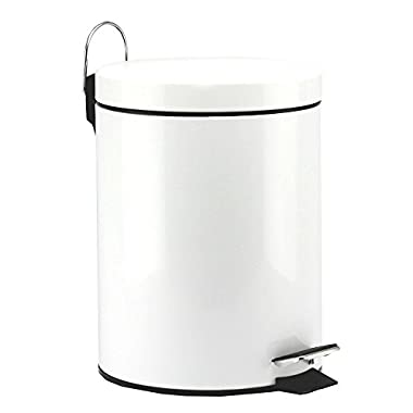 5 Liter/1.3 Gallon Round Step Color Trash Can (WhiteII)