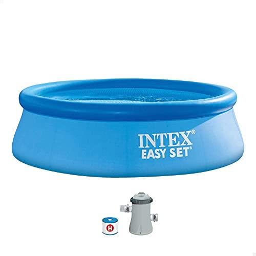 Intex 28112NP Piscina hinchable, con depuradora, 2419 litros