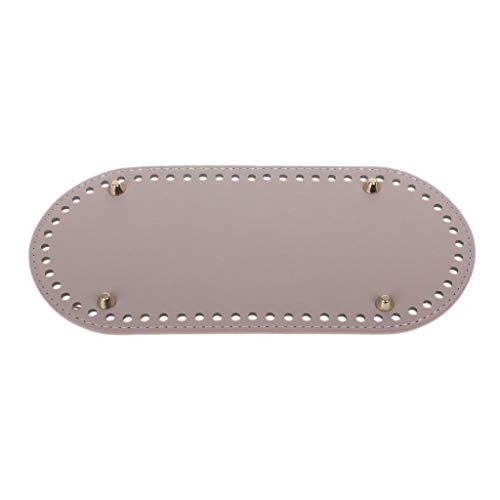 Exing Taschenboden Oval,Taschenboden Zum Häkeln Leder, 60 Löcher 25x10cm