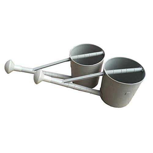 Arrosage Bouilloire Accueil Balcon, Arrosage agricole Can Grande capacité Arrosoir Outils de Haute qualité en Plastique Accueil Jardinage 20L (Color : White, Size : 2PC)