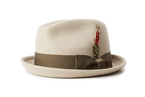 BRIXTON Gain Fedora Sombrero, Roca, XL Unisex Adulto